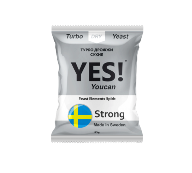 Спиртовые турбо дрожжи YES! YouCan Strong, 145 гр.